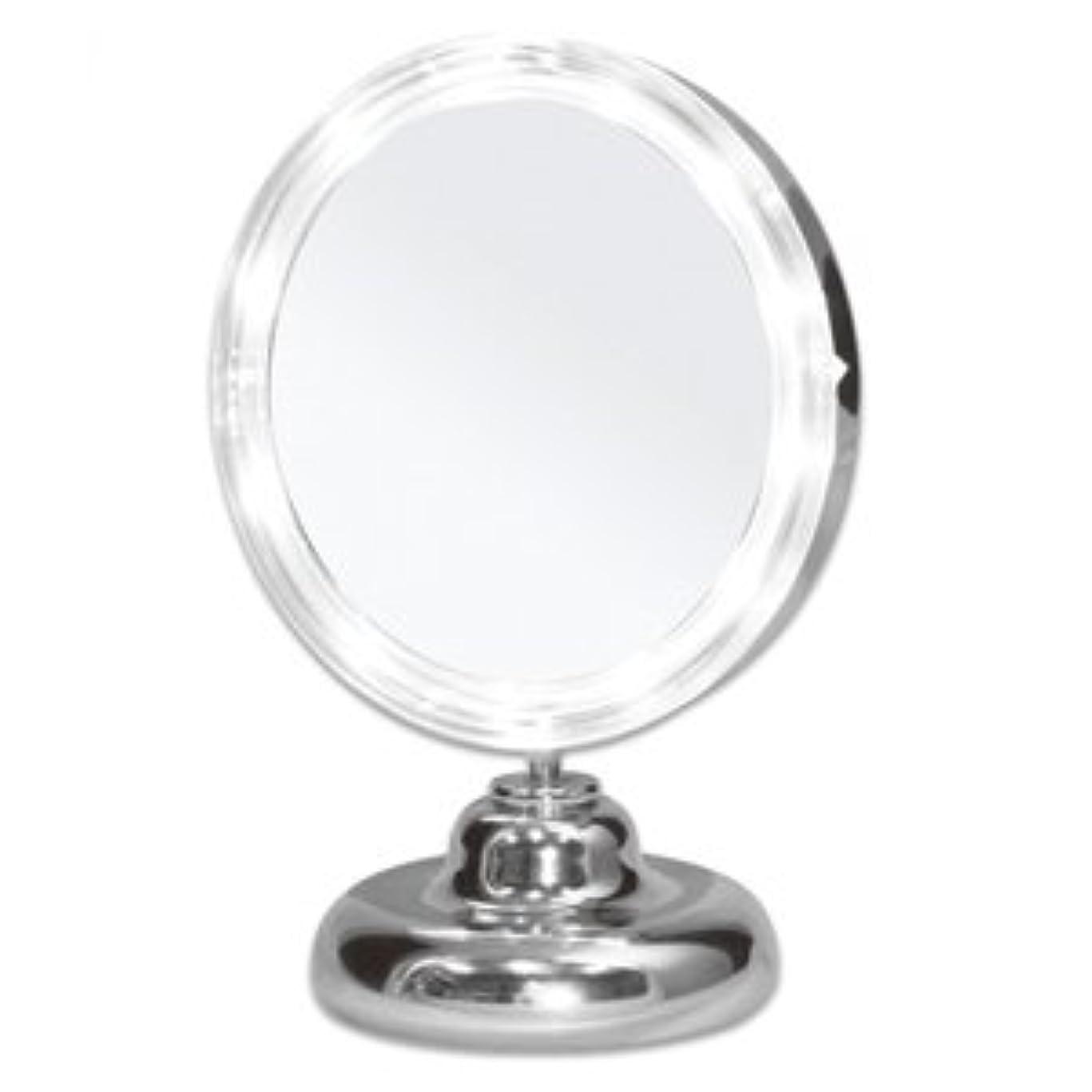 スキルジュース国民シミ?しわ?たるみ?毛穴が驚くほど良く見える!拡大鏡 5倍拡大+LEDライト付き 真実の鏡DX ミニS型 しっかり見えるから、メイクアップやお手入れがしやすい!どこでも使える電池式 角度調節可 真実の鏡 DX ミニS型