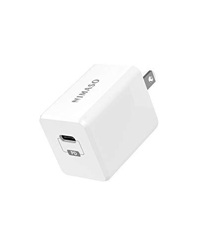 Nimaso USB C PD充電器【18W急速充電 折畳式プラグ PSE認...