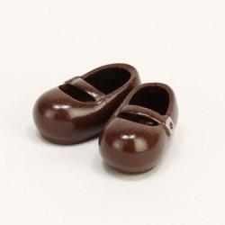 オビツボディ 11cm おでこ靴  マグネット付き 茶