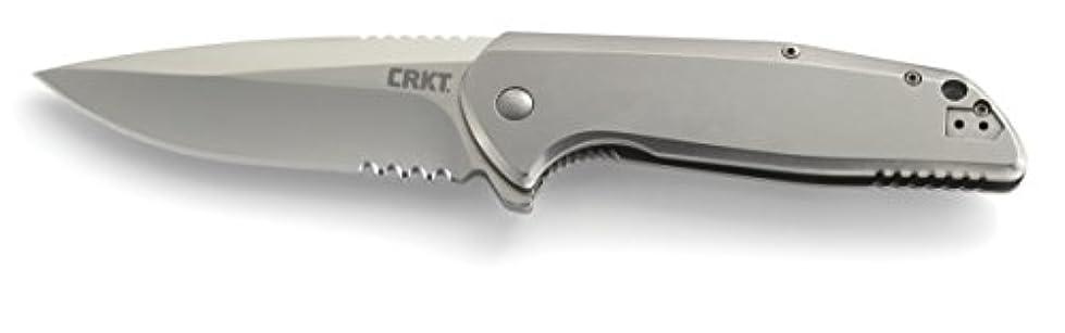 挽くクリップ生産性G.S.D, Stainless Handle, Satin Clip Point ComboEdge w/Clip