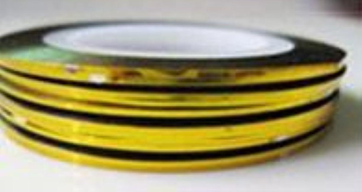 ブラウザシール落胆させるラインテープ専用ケース+ラインテープ1巻/ネイルラインテープ収納ケース/ネイルラインテープ用 (ゴールド)