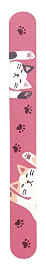 ウルル発行する安息チェコガラス 爪やすり (のび猫)