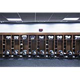 csfoto 7x 5ft背景for Football Locker RoomジムDressing部屋写真バックドロップStadiumスポーツポロシャツヘルメットブラック椅子High School Changeroomフォトスタジオ小道具ポリエステル壁紙