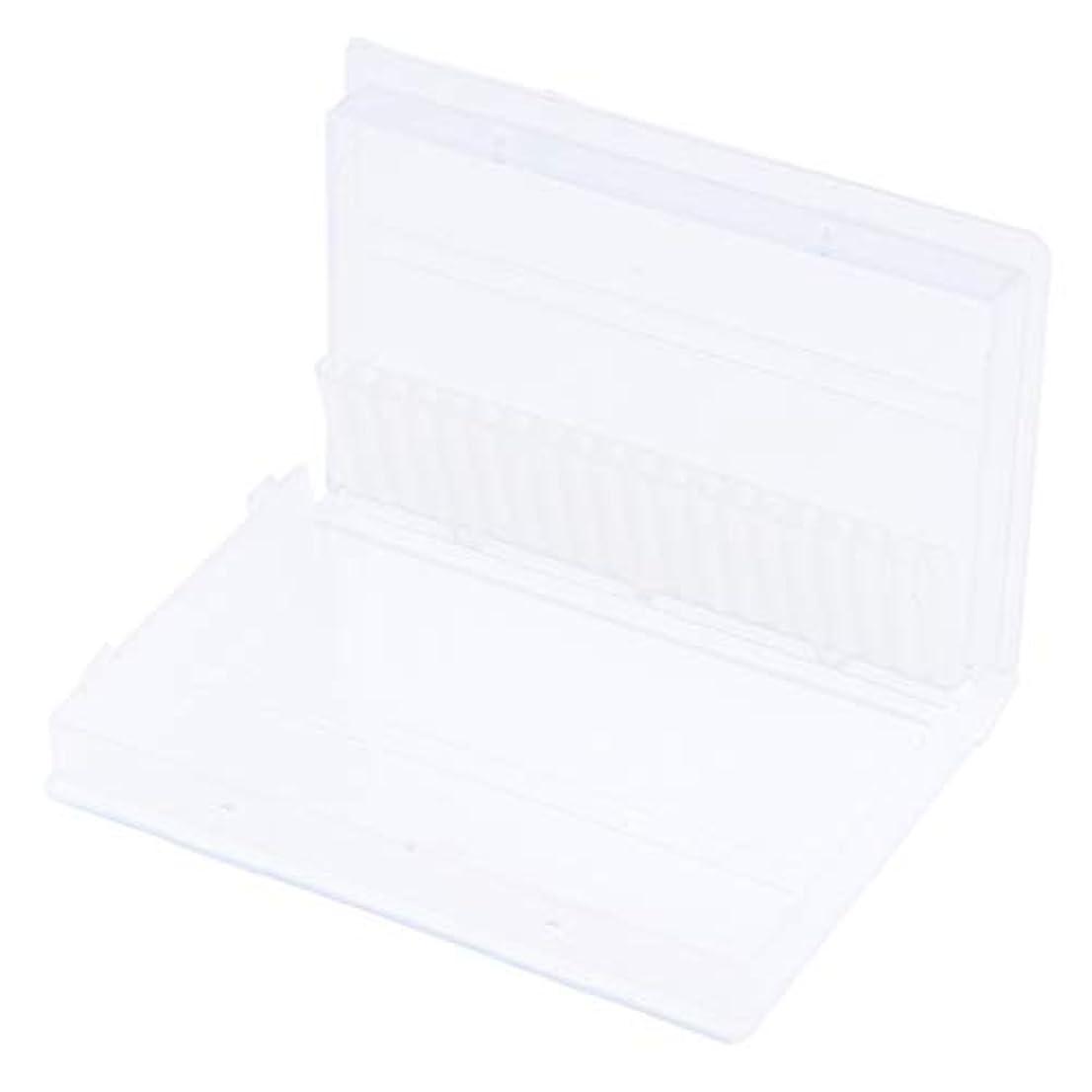 赤外線豆腐く20穴 ネイルドリルビットホルダー 収納ボックス 約9.8 x 6.5cm