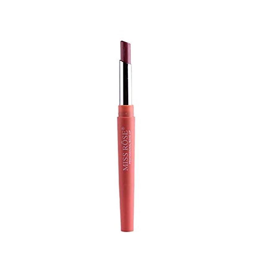 シロクマチャレンジワイヤー口紅ペン BOBOGOJP ダブルヘッド 多機能 リップライナー リップスティックペン 多色選択 リップグロス リップライナースティックペンシル 長続き 防水 リプリナー 恋する唇 メイク道具 おすすめ (G)