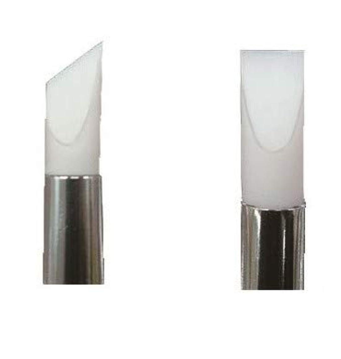 宣言鋼冷凍庫シリコンアートブラシ KF781 2本セット ジェル ネイル 爪 フラット フレンチ ライン アート はみ出し 修正 ブラシ 筆 シリコン