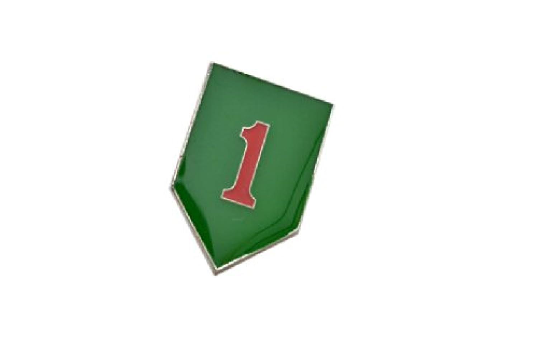 30 アメリカ陸軍 第1歩兵師団 部隊章 バッジ 金属製 徽章 レプリカ グリーン