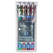 Schneider 150295 Memo Ballpoint Pens, 1.4 mm, Assorted Ink by Schneider