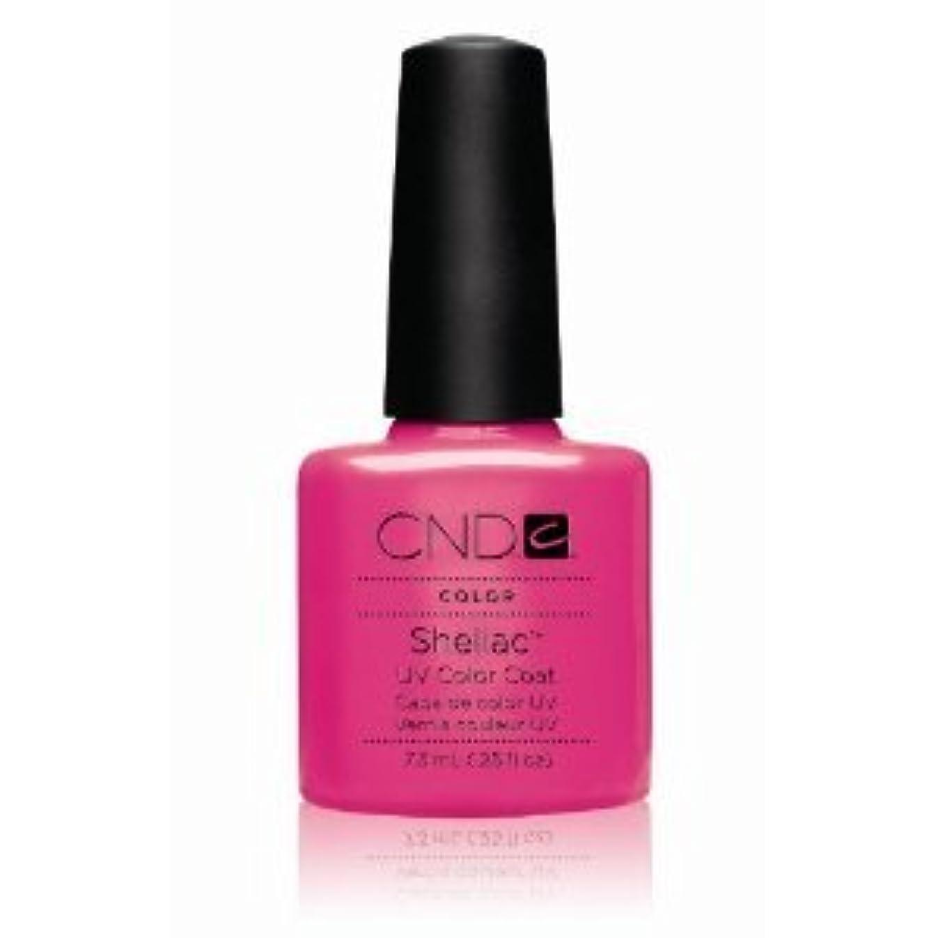 粘性の円形応じるCND(シーエヌディー) シェラック UVカラーコート7.3mL 519 Hot Pop Pink(マット) [並行輸入][海外直送品]