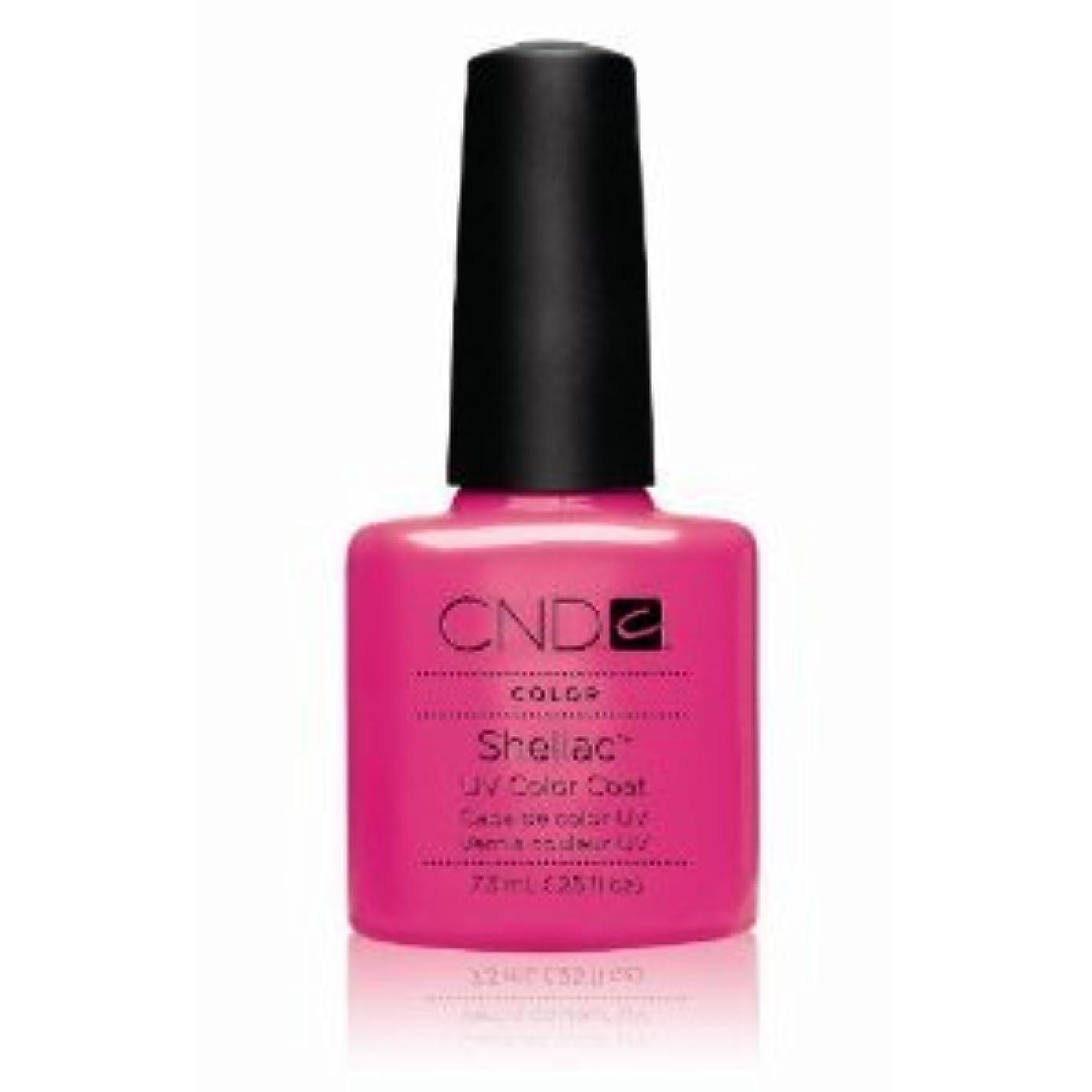 かび臭い時制のりCND(シーエヌディー) シェラック UVカラーコート7.3mL 519 Hot Pop Pink(マット) [並行輸入][海外直送品]