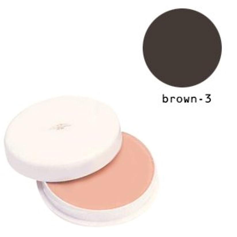 順応性マットピンチ三善 フェースケーキ ブラウン-3
