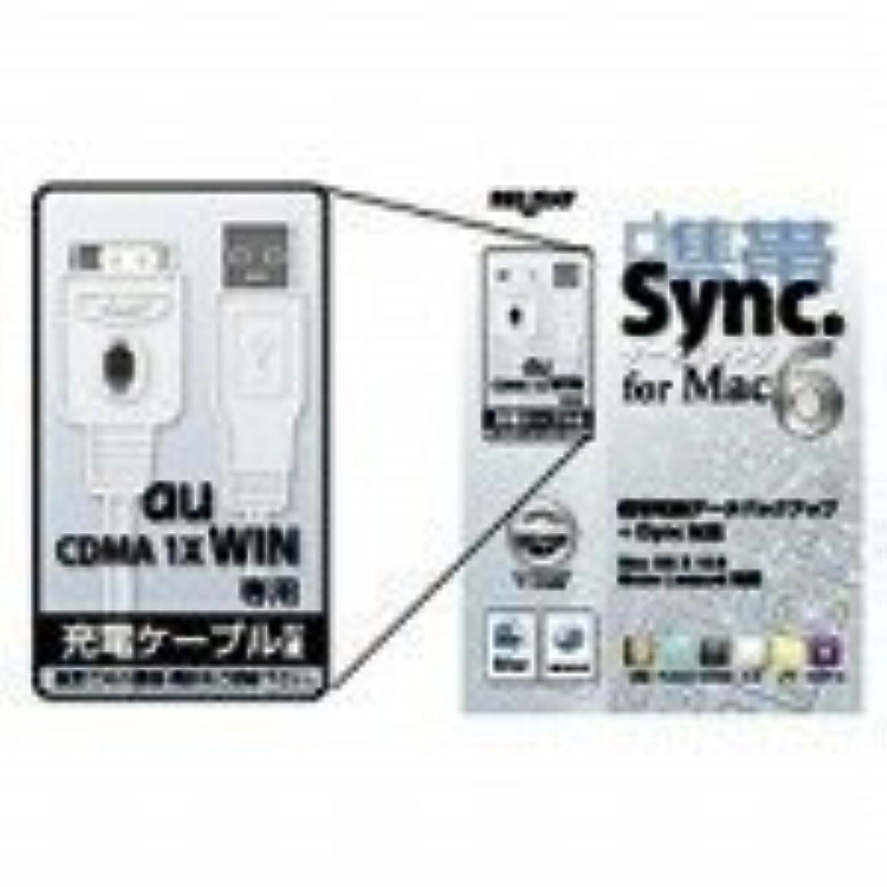 ベリーアナリスト販売員携帯シンク for Mac 6 au WIN充電ケーブルセット