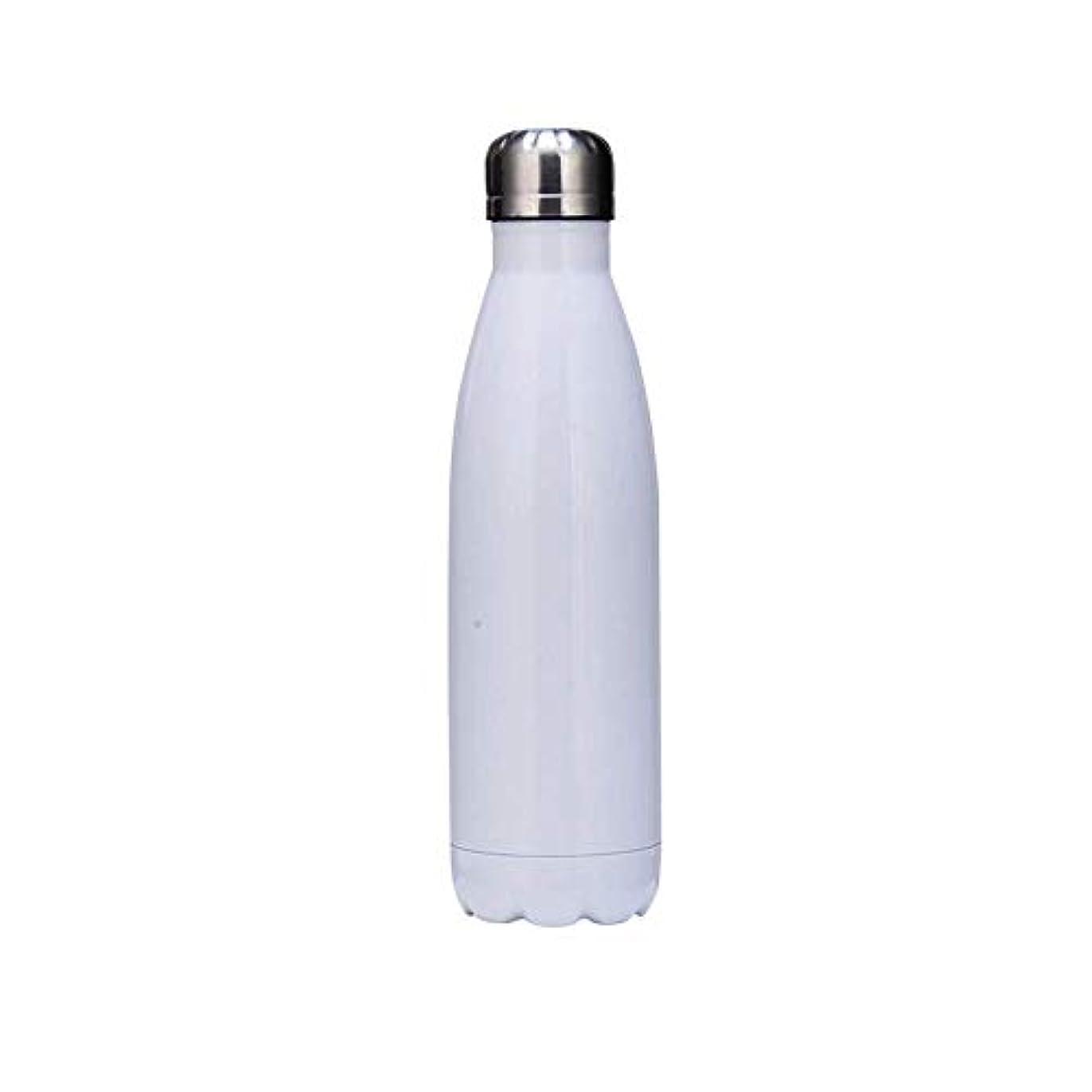 遠い操縦する排泄する断熱ウォーターボトル二重壁真空ステンレス鋼ボトル漏れ防止用アウトドアスポーツキャンプハイキングサイクリング,White