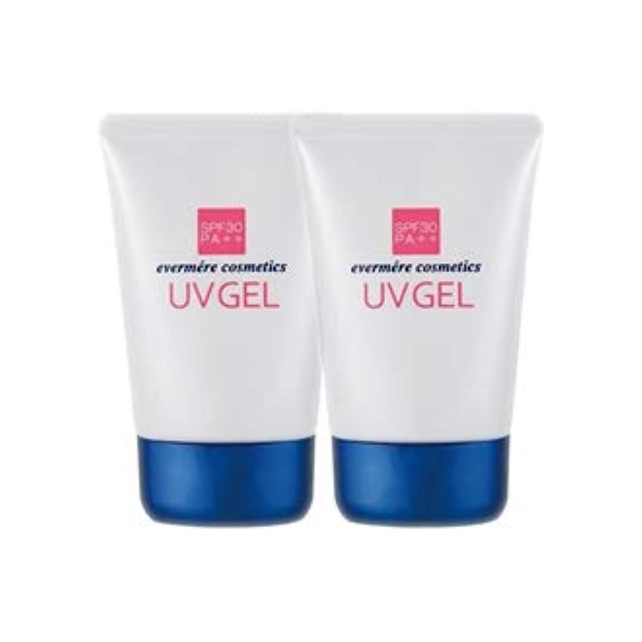 危険を冒します深さ意志に反するエバメール UVゲル (日焼け止め美容ジェル) 80g 2本セット