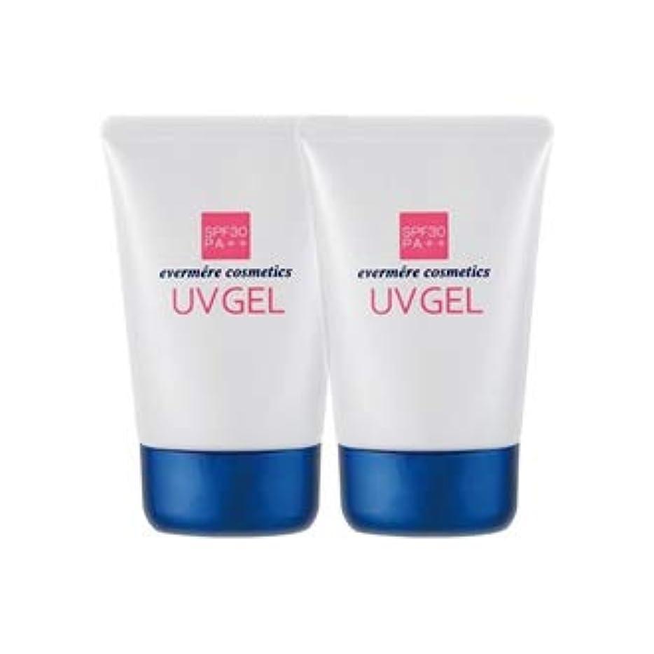 水曜日してはいけない乳製品エバメール UVゲル (日焼け止め美容ジェル) 80g 2本セット