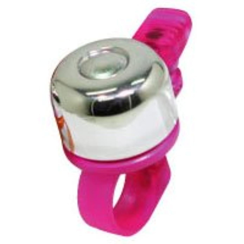 過激派突き刺す護衛東京ベル(TOKYO BELL) チビ丸 スケルトン ベル 取付可能径:φ22.2mm ピンク