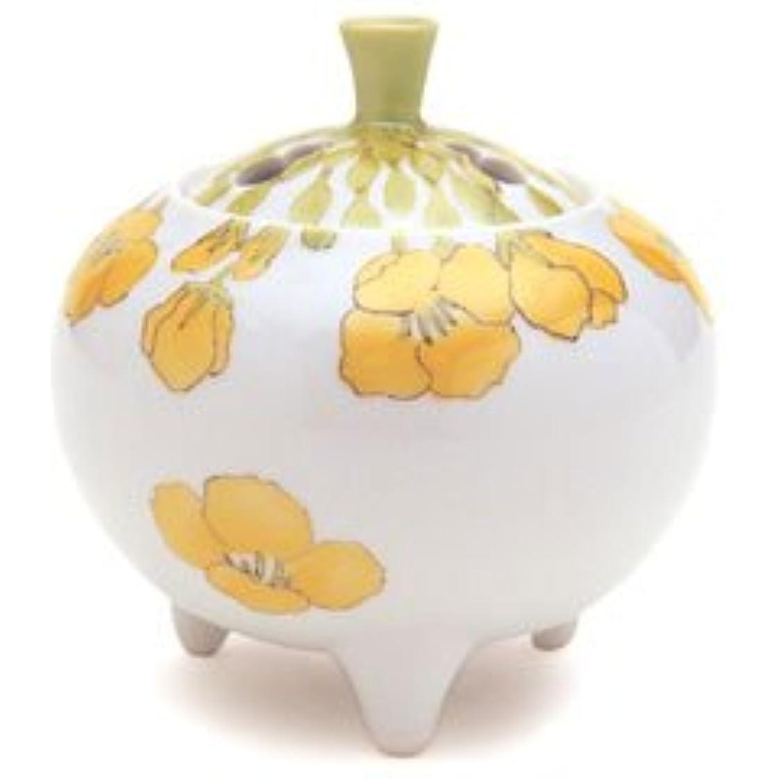 鉛植物学原点香炉 流麗 菜の花 (九谷焼)