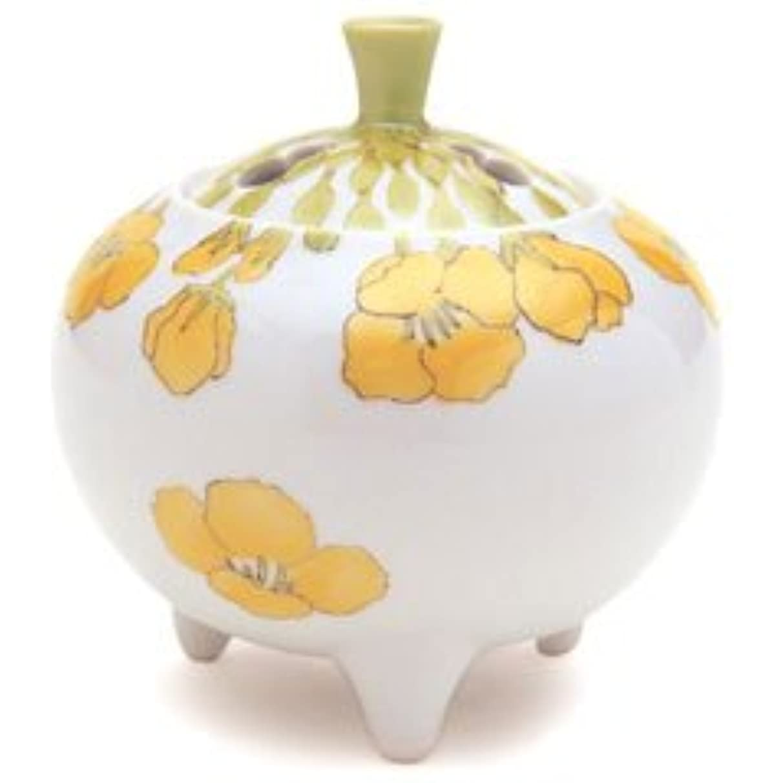 タブレット虫適応香炉 流麗 菜の花 (九谷焼)