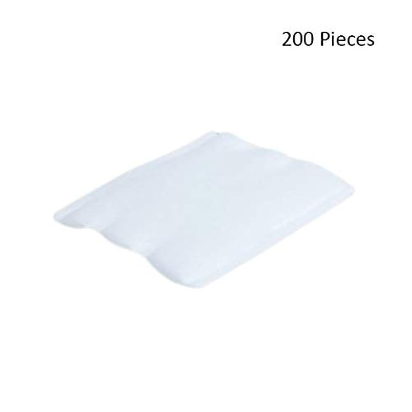つなぐ誇りに思う補償化粧パッド 200ピースオーガニックコットンパッドフェイシャルカットクレンジングメイクアップパフ化粧品メイクアップリムーバーワイプスキンフェイスウォッシュコットンパッド メイク落とし化粧パッド (Color : White...