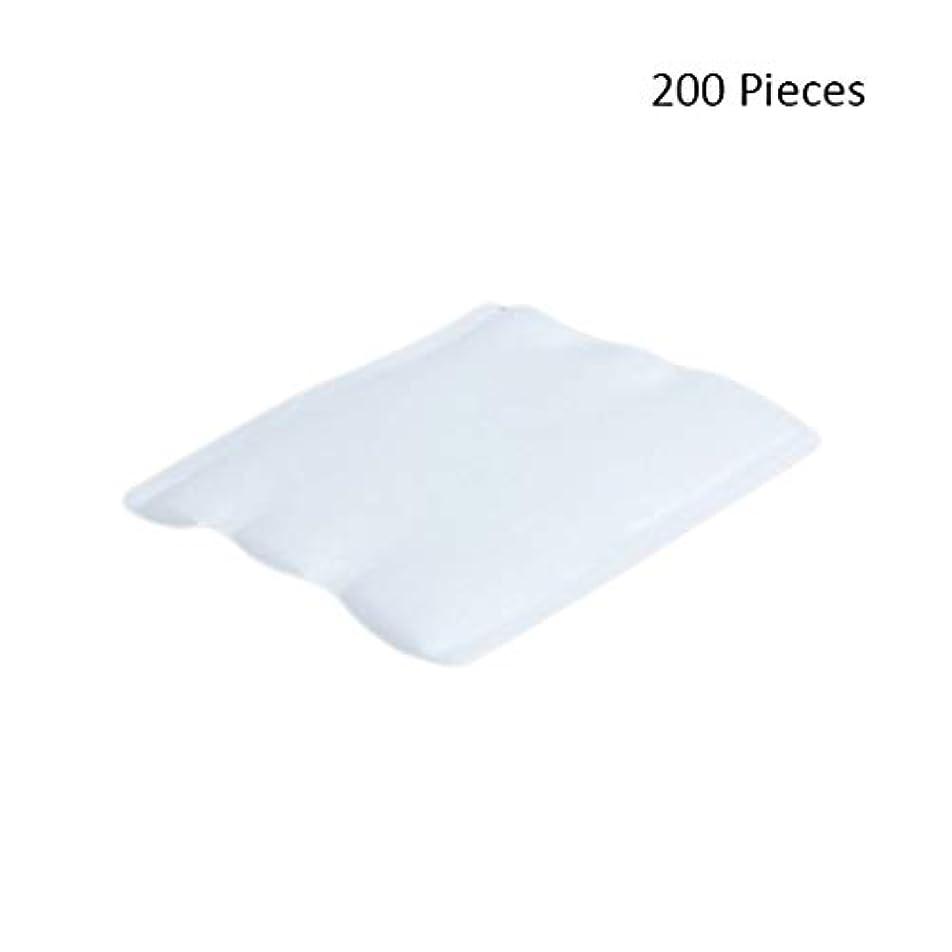 出版想定口径化粧パッド 200ピースオーガニックコットンパッドフェイシャルカットクレンジングメイクアップパフ化粧品メイクアップリムーバーワイプスキンフェイスウォッシュコットンパッド メイク落とし化粧パッド (Color : White...
