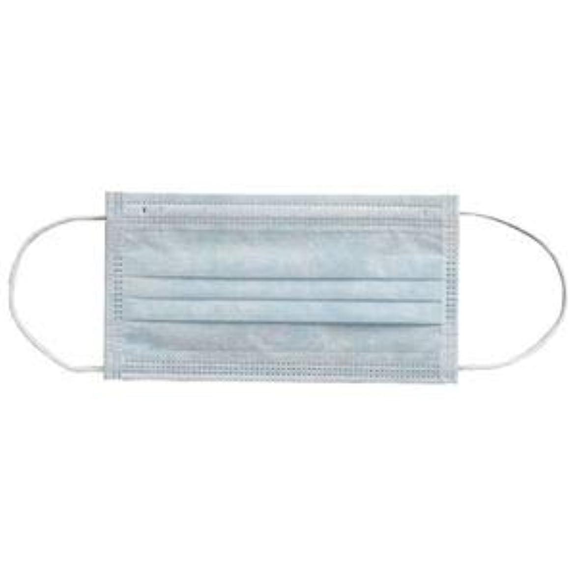 キャプテンブライ不振ベンチ(まとめ) 川西工業 メディカルマスク3PLY ブルー【×30セット】