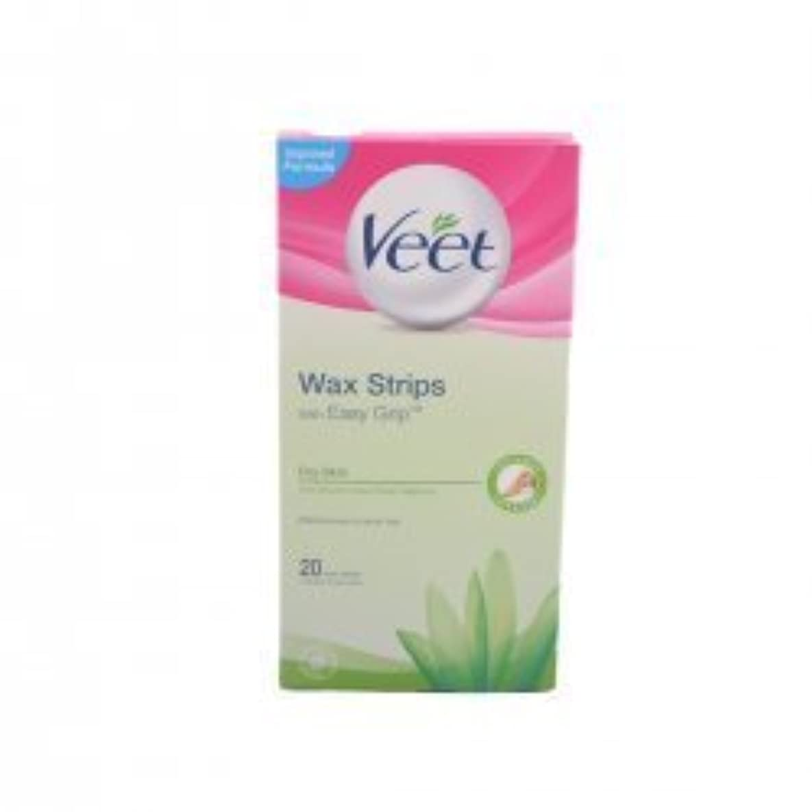 曖昧な病アラートVeet For Men Cold Wax Strips Hair removal strips by Veet