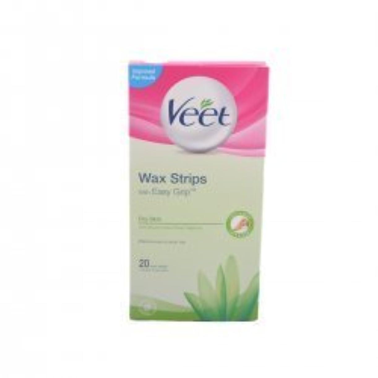 低い見込みスクワイアVeet For Men Cold Wax Strips Hair removal strips by Veet [並行輸入品]