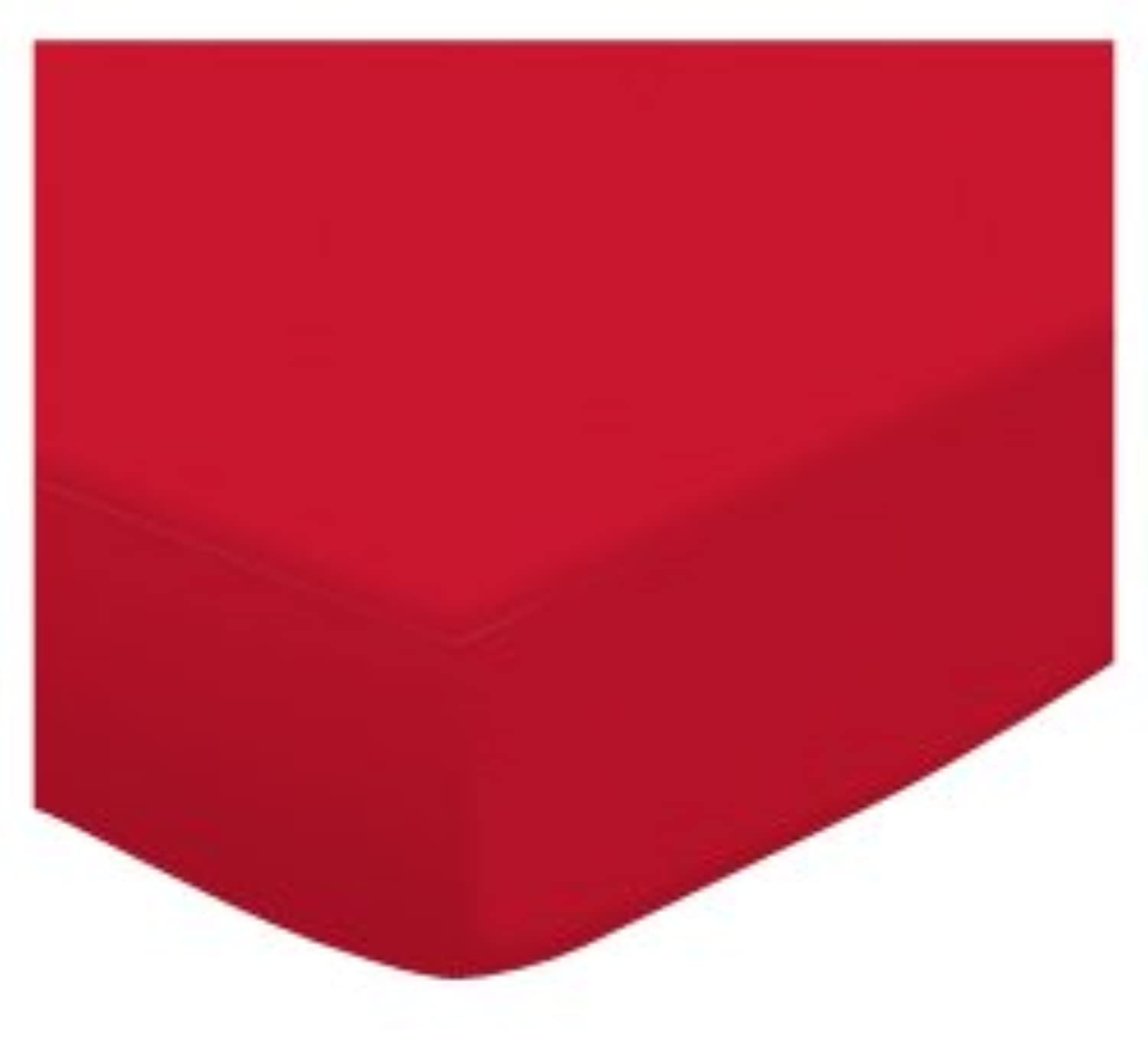 SheetWorld Fitted Pack N Play (Graco) Sheet - Solid Red Jersey Knit - Solid Colors by sheetworld