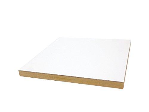 ファブリックパネル用木製パネル 【F☆☆☆☆】 自作用下地ボード (300×300mm 厚み21mm, ホワイト)