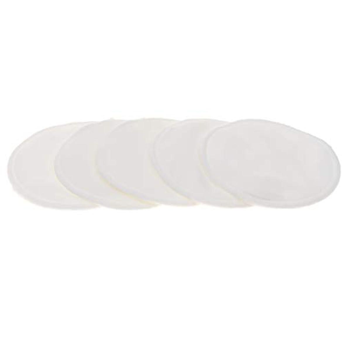 怠感ノベルティボトルネック胸パッド クレンジングシート メイク落とし用 竹繊維 円形 12cm 吸収性 再使用可能 5個 全5色 - 白