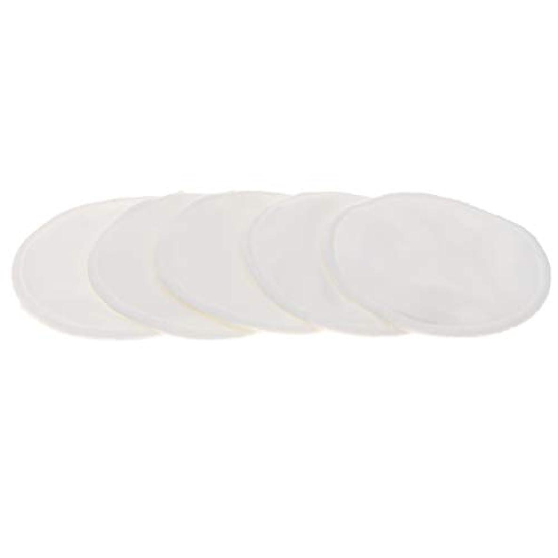 湖ゴルフれるB Blesiya 胸パッド クレンジングシート メイク落とし用 竹繊維 円形 12cm 吸収性 再使用可能 5個 全5色 - 白