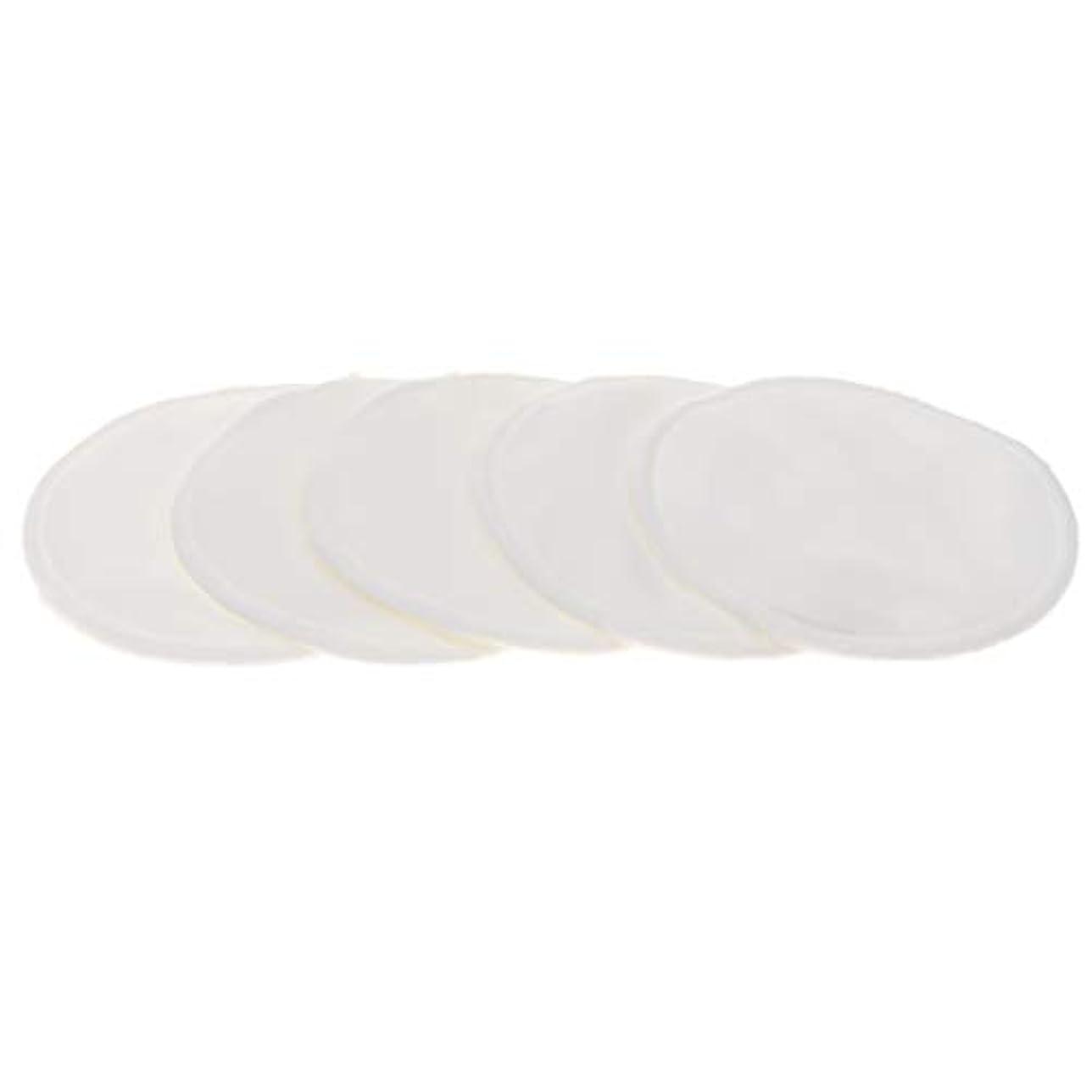 ガラス詩補充胸パッド クレンジングシート メイク落とし用 竹繊維 円形 12cm 吸収性 再使用可能 5個 全5色 - 白