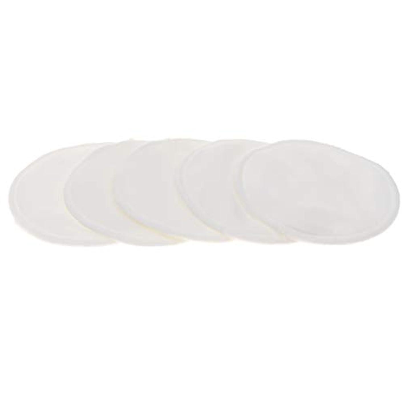 きゅうり滝海港胸パッド クレンジングシート メイク落とし用 竹繊維 円形 12cm 吸収性 再使用可能 5個 全5色 - 白