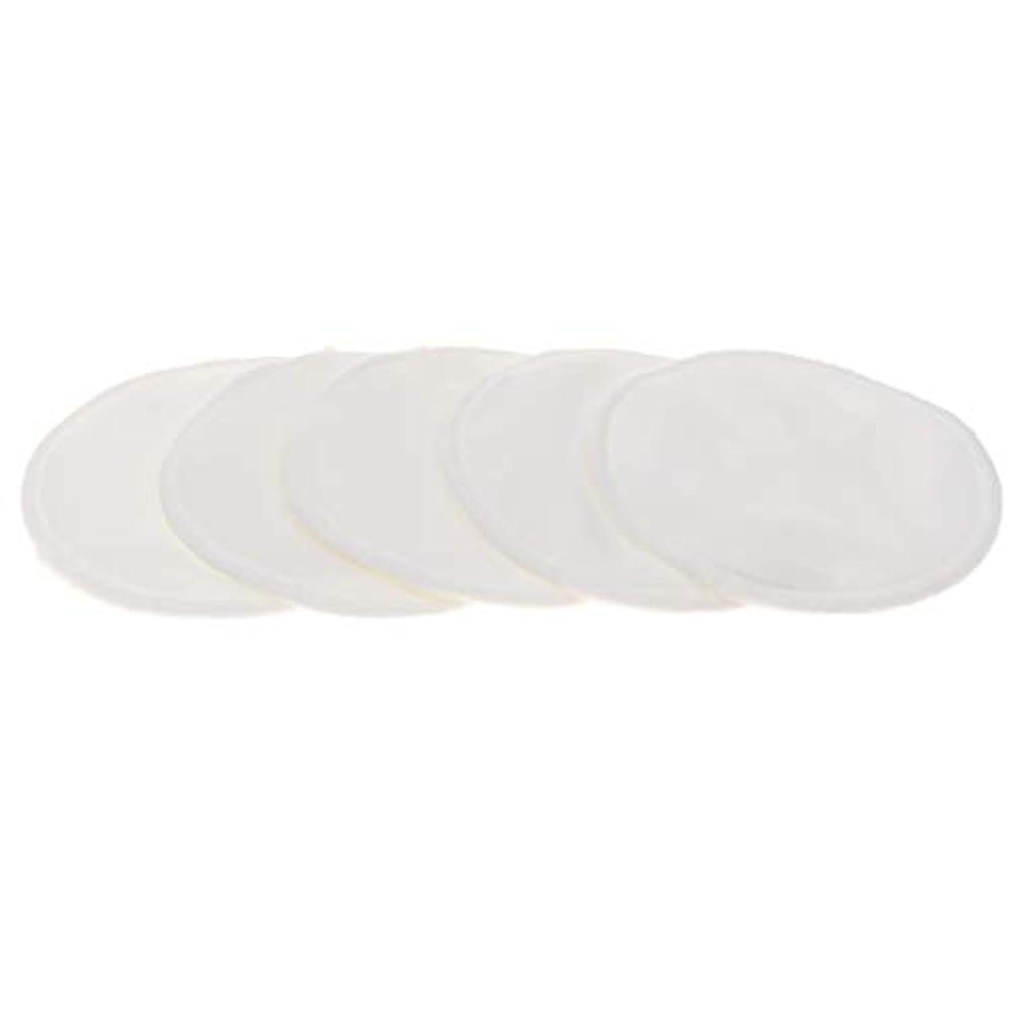 標準アルバニー強制的B Blesiya 胸パッド クレンジングシート メイク落とし用 竹繊維 円形 12cm 吸収性 再使用可能 5個 全5色 - 白