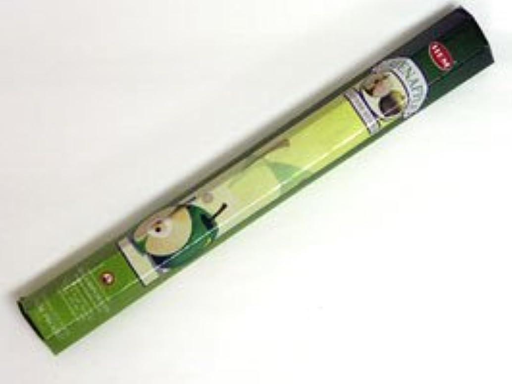 予測環境に優しい素晴らしきHEM 六角お香 6個入り グリーンアップル