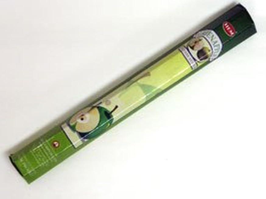 フラフープ非公式思慮深いHEM 六角お香 6個入り グリーンアップル