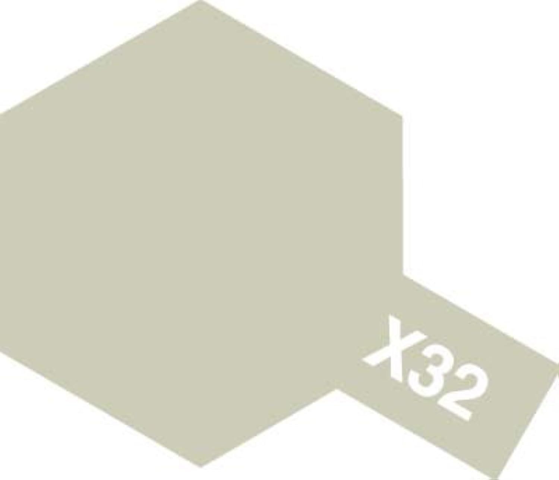■アクリルミニ X-32 チタンシルバー 81532【タミヤ/TAMIYA】