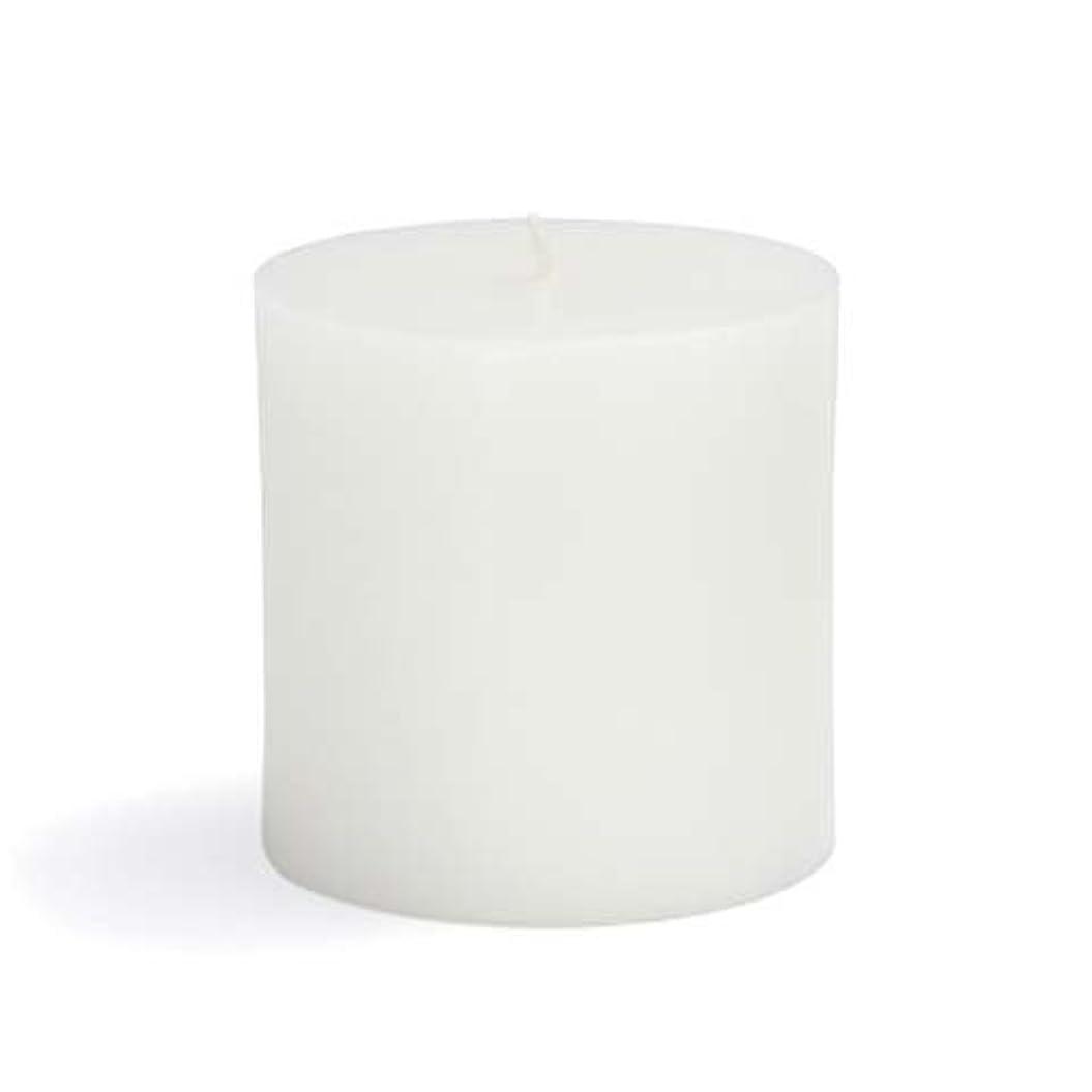 羊飼い地球舗装Zest Candle CPZ-071-12 3 x 3 in. White Pillar Candles -12pcs-Case- Bulk