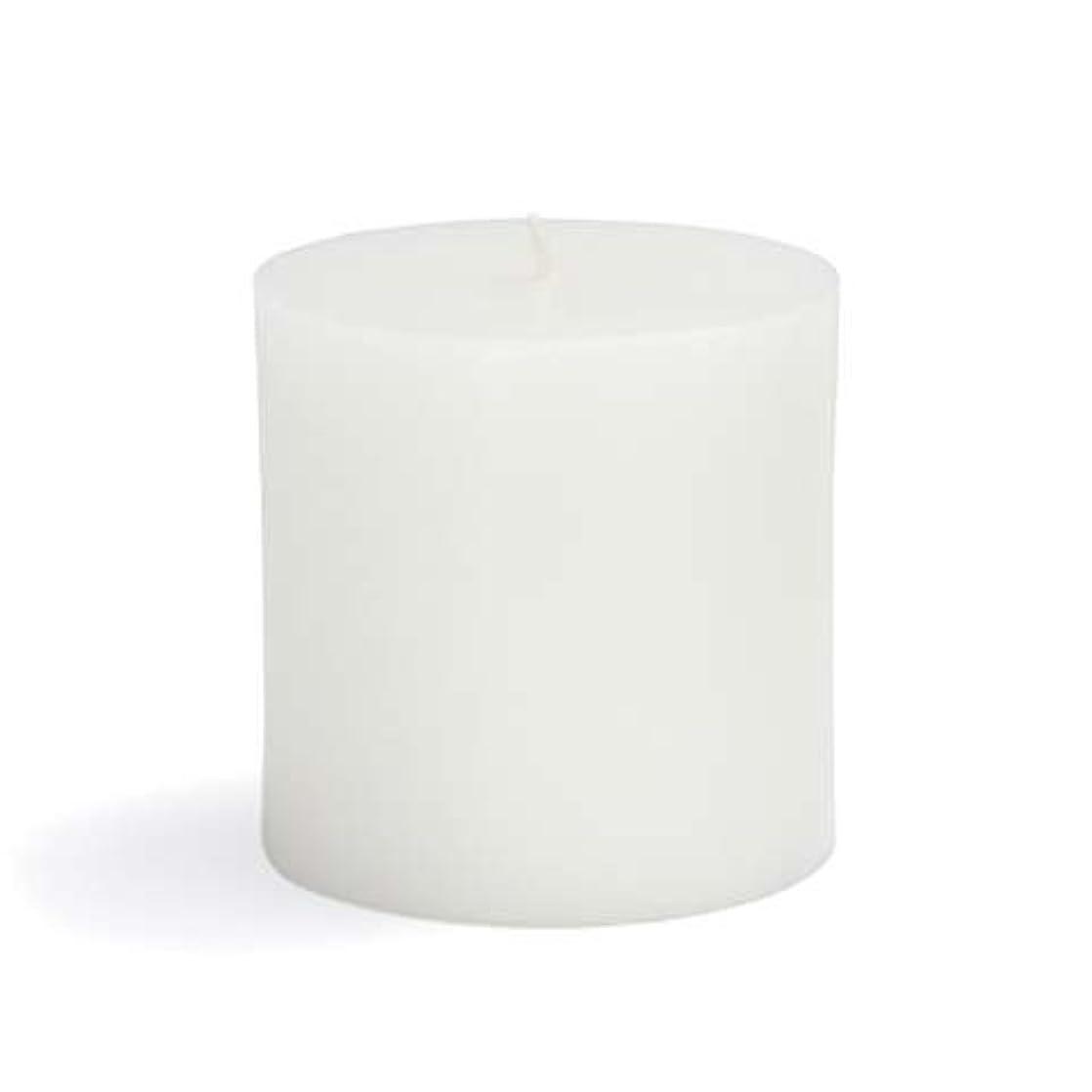 一過性手錠利益Zest Candle CPZ-071-12 3 x 3 in. White Pillar Candles -12pcs-Case- Bulk