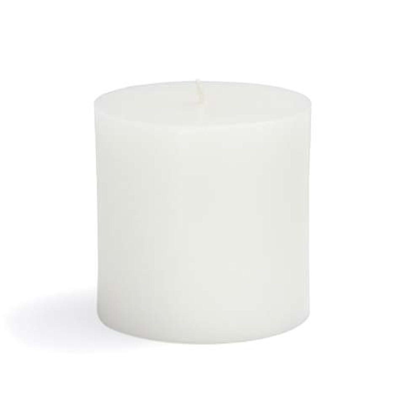 再生可能コンプリート請求書Zest Candle CPZ-071-12 3 x 3 in. White Pillar Candles -12pcs-Case- Bulk