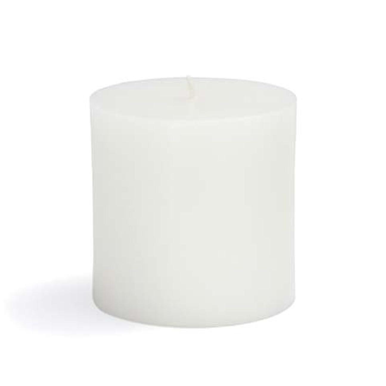 アルバム未使用私のZest Candle CPZ-071-12 3 x 3 in. White Pillar Candles -12pcs-Case- Bulk