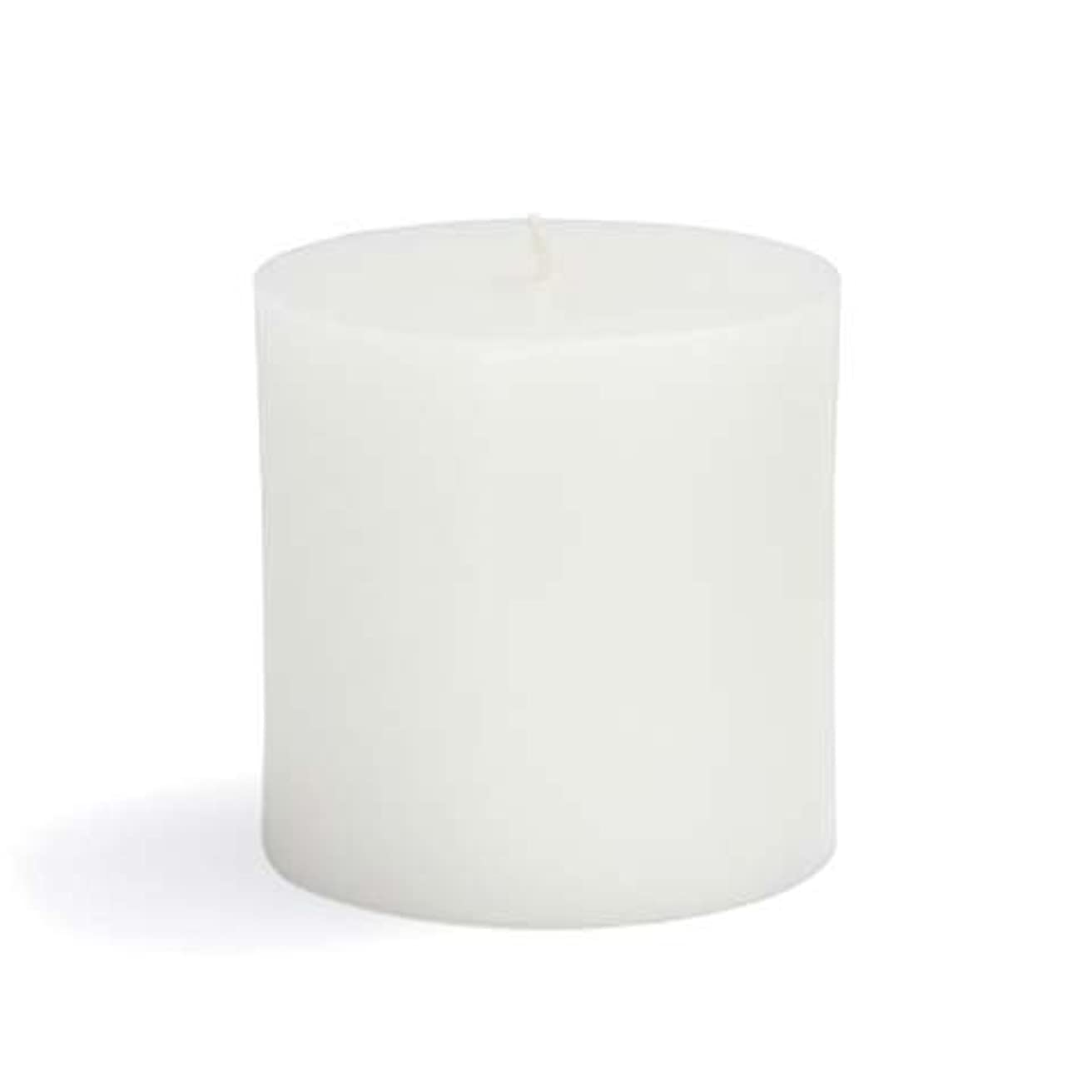 抑制する息を切らして田舎者Zest Candle CPZ-071-12 3 x 3 in. White Pillar Candles -12pcs-Case- Bulk