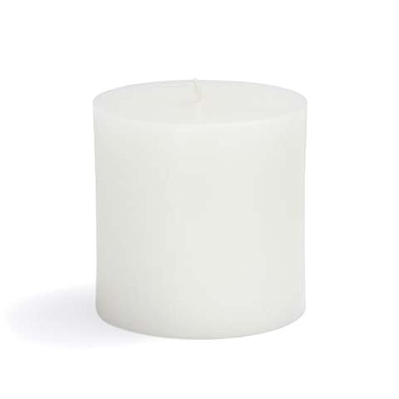 Zest Candle CPZ-071-12 3 x 3 in. White Pillar Candles -12pcs-Case- Bulk
