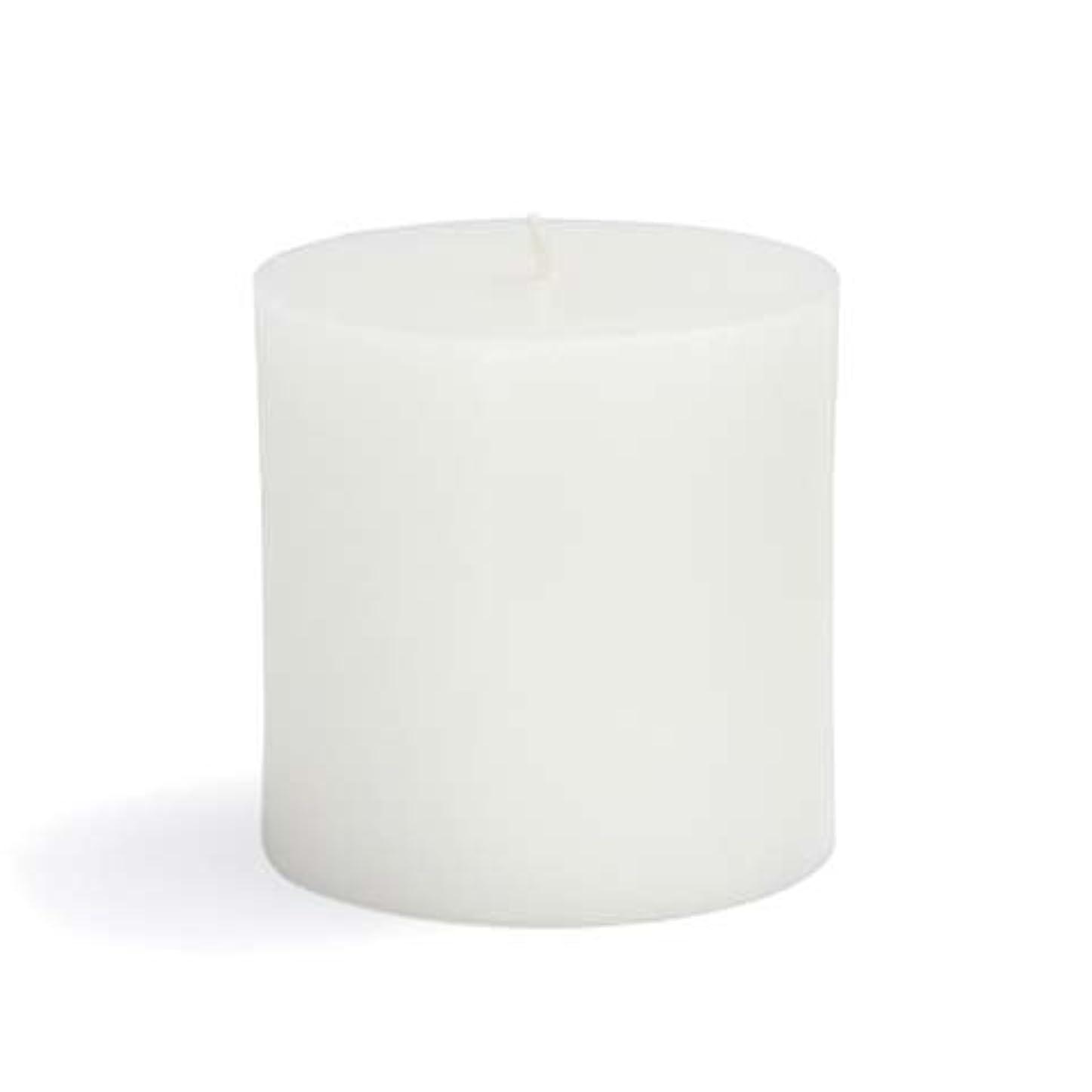 バスト端末くるみZest Candle CPZ-071-12 3 x 3 in. White Pillar Candles -12pcs-Case- Bulk