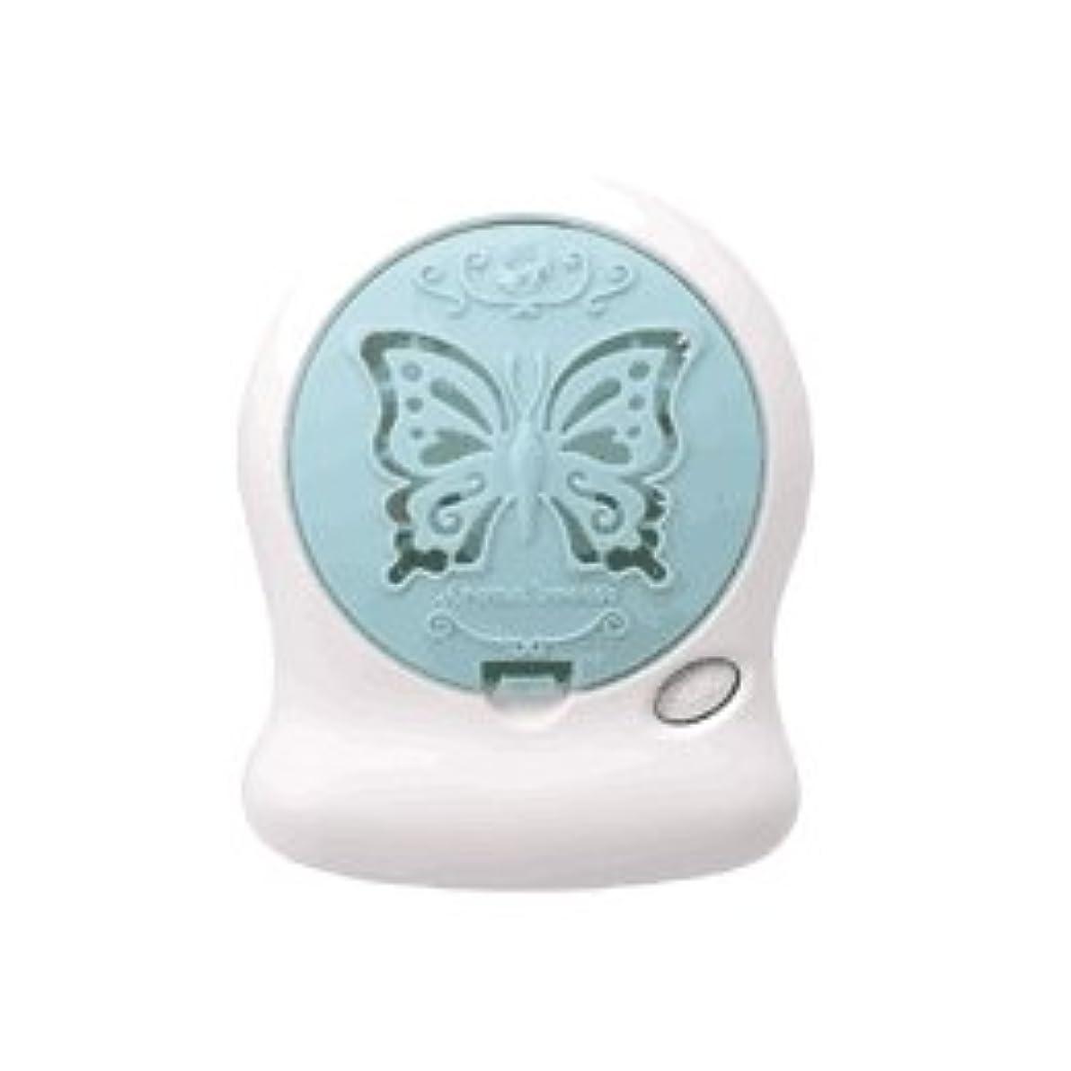 ロードブロッキング個人的な領事館アロマブリーズ Nova t Jill (蝶柄) グリーン オフタイマー付モバイルファン式芳香器