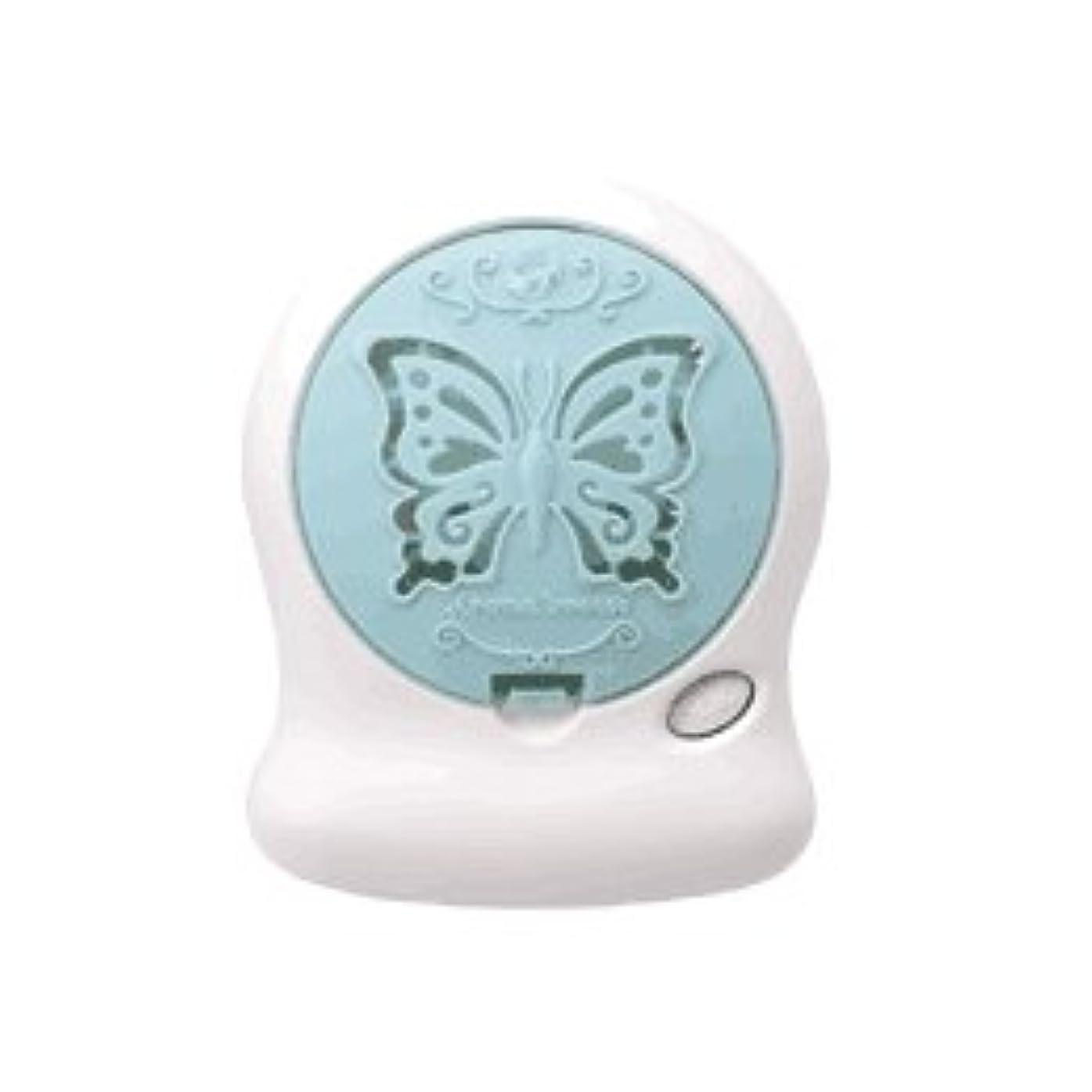 記念碑的な郵便局お気に入りアロマブリーズ Nova t Jill (蝶柄) グリーン オフタイマー付モバイルファン式芳香器