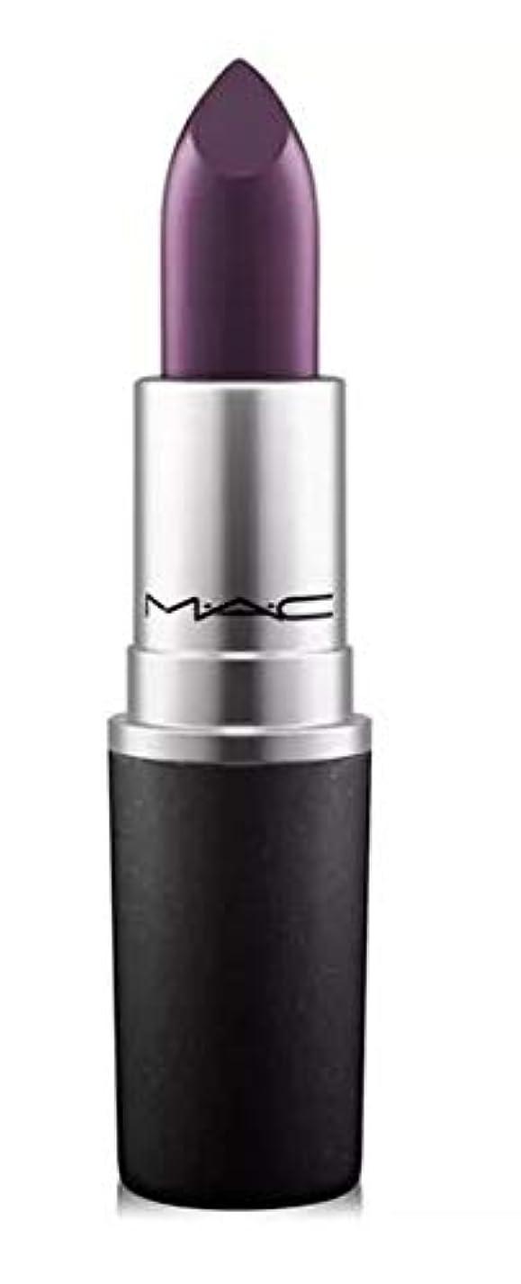 紫のパブ正気マック MAC Lipstick - Plums Cyber - intense blackish-purple (Satin) リップスティック [並行輸入品]
