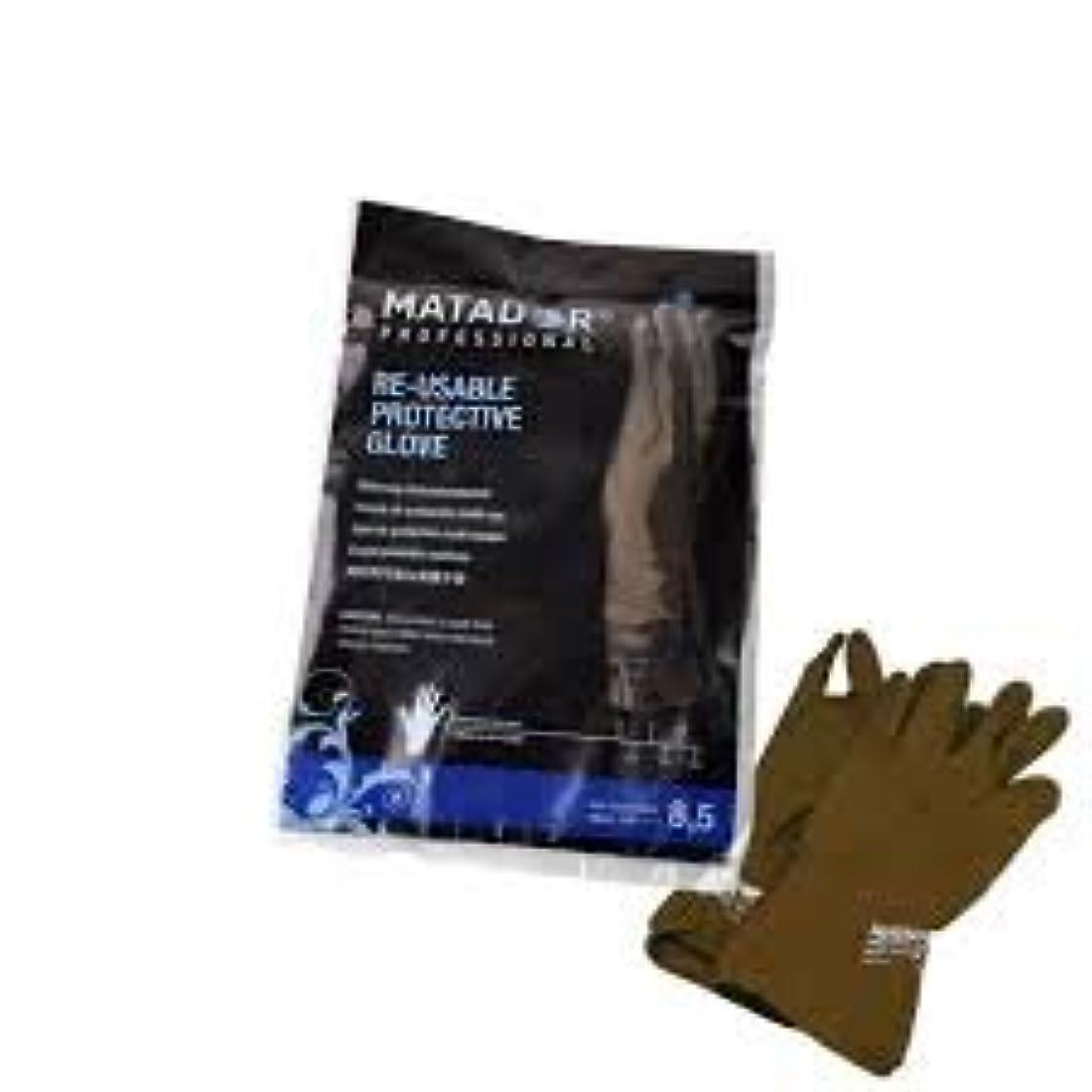 逆中央月曜マタドールゴム手袋 8.5吋 【5個セット】