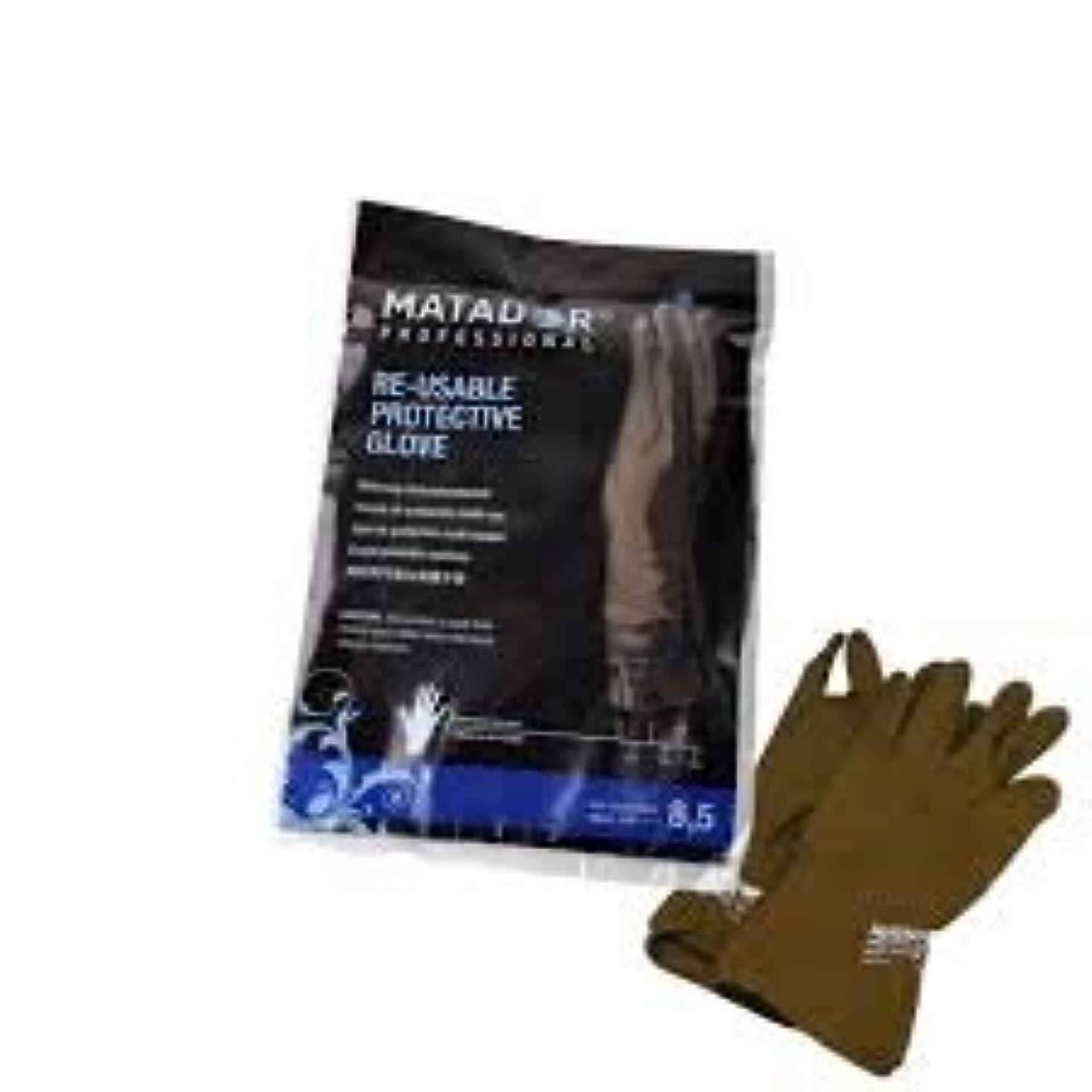 デンプシー原油計算するマタドールゴム手袋 8.5吋 【5個セット】
