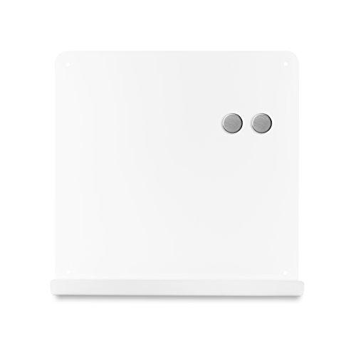 ホワイトボード マグネットボード おしゃれな 壁掛け J ボード ポケット付き 38cm×38cm (ホワイト)